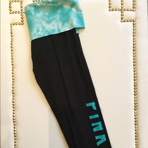 e57843bb177bd8 Tie Dye Fold Over PINK Yoga Leggings 💙. M 5aececb53afbbd1a5389bc25. Other  Pants ...